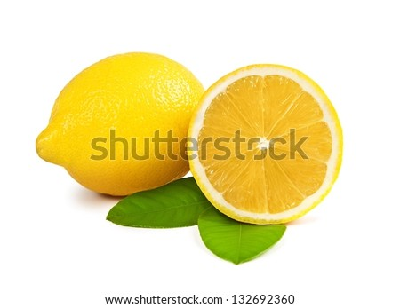 Lemons isolated over white