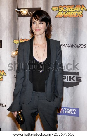 Lena Headey at the Spike TV's 2011 Scream Awards held at the Gibson Amphitheatre in Universal City on October 15, 2011. - stock photo