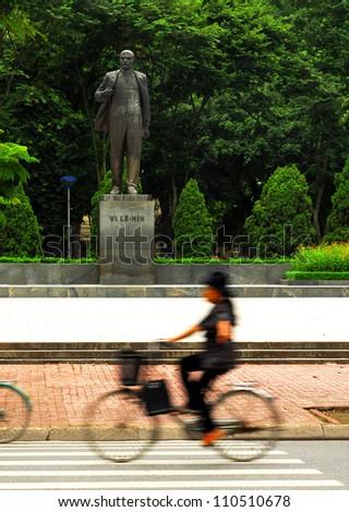 Lenin statue,Veitnam - stock photo