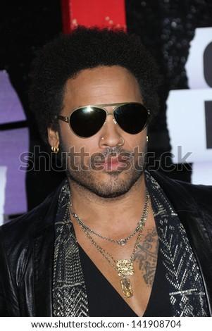 Lenny Kravitz at the 2013 CMT Music Awards, Bridgestone Arena, Nashville, TN 06-05-13 - stock photo