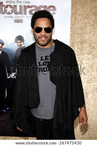 Lenny Kravitz at the HBO's 'Entourage' Season 7 Premiere held at the Paramount Studios lot in Hollywood on June 16, 2010.