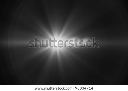 Lens flare abstract background. Asymmetric light rays