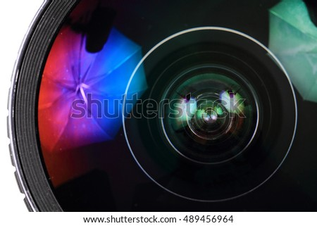 lens of photo camera (objective) as nice background