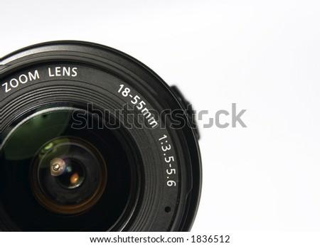 lens of photocamera - stock photo