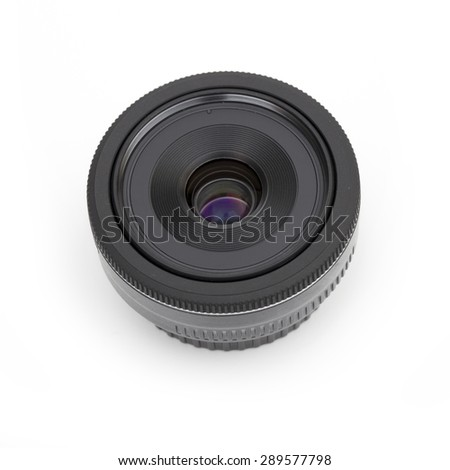 lens on the white background - stock photo