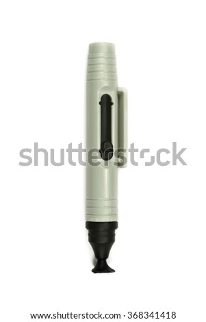 Lens pen for optics isolated on the white background