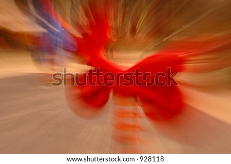 lens zoom red spring play horse motorcycle in a playground - stock photo