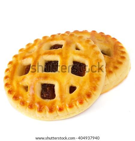 Lenten cookies with apricot jam - stock photo