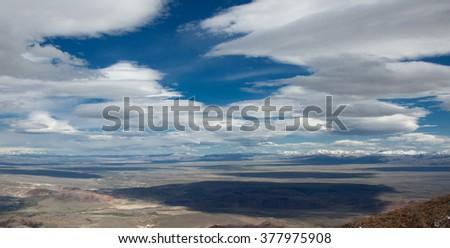 Lenticular cloud a rare atmospheric phenomenon - stock photo