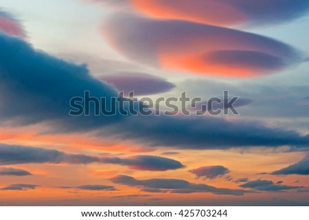 Lenticular Clouds - stock photo