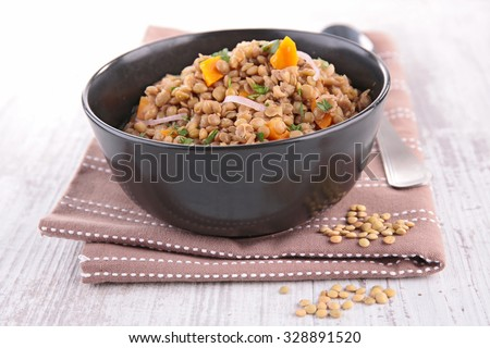 lentils salad - stock photo