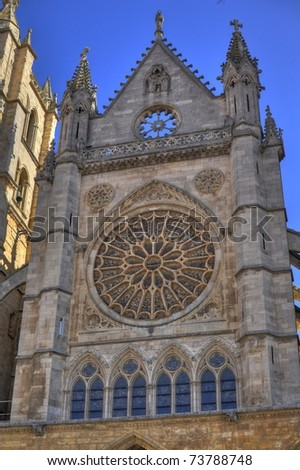 Leon Cathedral Spain - stock photo