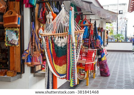 Leon, Nicaragua, - December 14, 2015: person on street selling craft to tourists