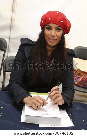 Leona Lewis raises funds for Hopefield Animal Sanctuary at their Christmas Fair, Brentwood, Essex. 27/11/2011 Picture by: Steve Vas / Featureflash