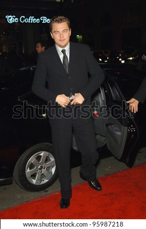 "LEONARDO DiCAPRIO at the Los Angeles premiere of his new movie ""Blood Diamond"" at Grauman's Chinese Theatre, Hollywood. December 6, 2006  Los Angeles, CA Picture: Paul Smith / Featureflash"