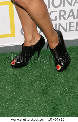 Leonor Varela's shoes  at the party to celebrate the 100th Episode of 'Dog Whisperer'. Boulevard 3, Hollywood, CA. 09-17-08 - stock photo