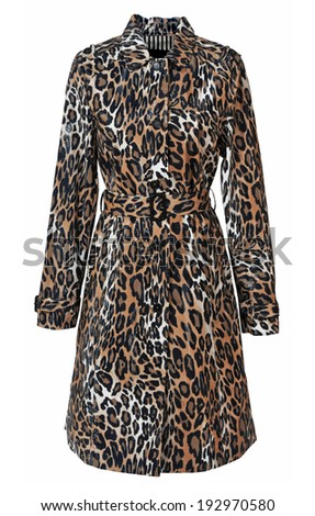 leopard coat isolated on white