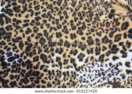 leopard fur skin texture background - stock photo