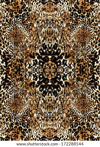 Leopard print in brown color - stock photo
