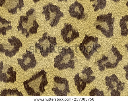 Leopard seamless fur skin leather natural texture pattern background. - stock photo