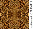 Leopard skin texture illustrated beautiful background - stock
