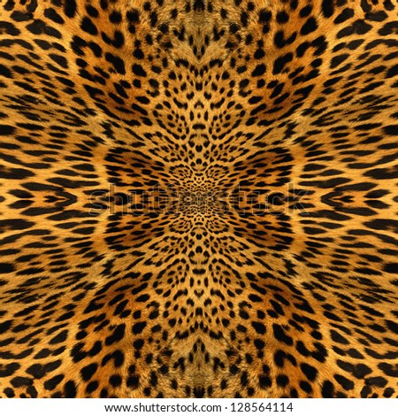 Leopard skin texture illustrated beautiful background - stock photo