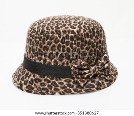 leopard women elegance hat isolated