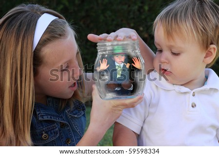 Leprechaun catchers - stock photo