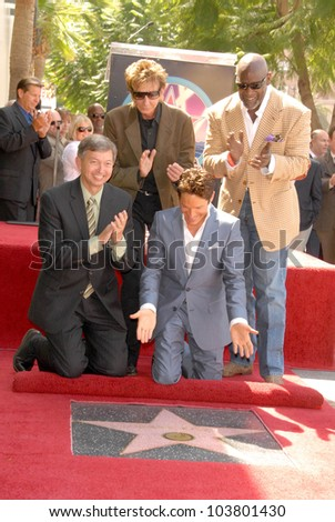 Leron Gubler with Barry Manilow and Dave Koz  at the ceremony honoring Dave Koz with a star on the Hollywood Walk of Fame. Vine Street, Hollywood, CA. 09-22-09