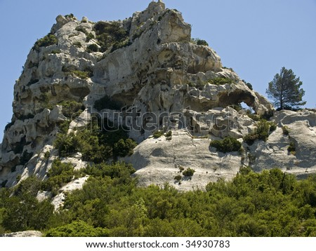 Les Baux-de-Provence is a small and beautiful village near Saint Remy, in Provence, France
