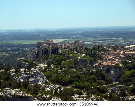 Les Baux-de-Provence is a small and beautiful village near Saint Remy, in Provence, France - stock photo