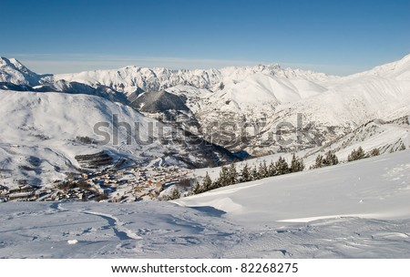 Les Deux Alps, France - stock photo
