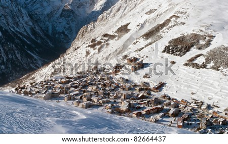 Les Deux Alps - France - stock photo