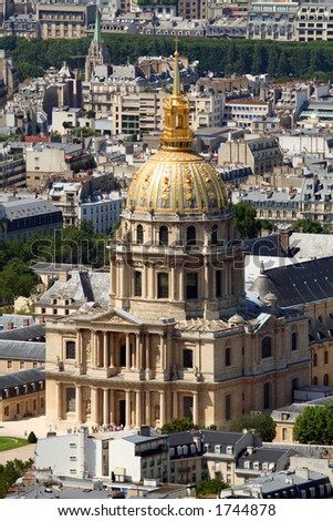 Les invalides building in Paris, France