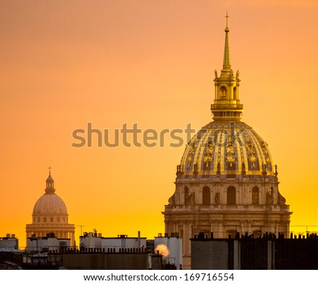 Les Invalides, Paris. - stock photo