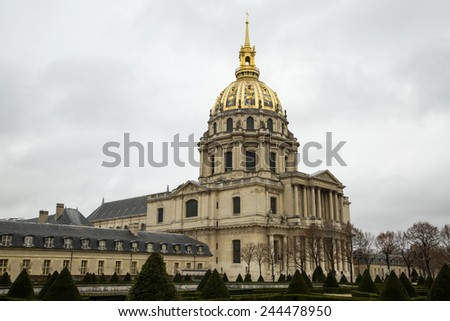 Les Invalides (The National Residence of the Invalids and Army Museum) in Paris, France