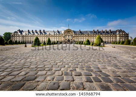 Les Invalides War History Museum in Paris, France - stock photo