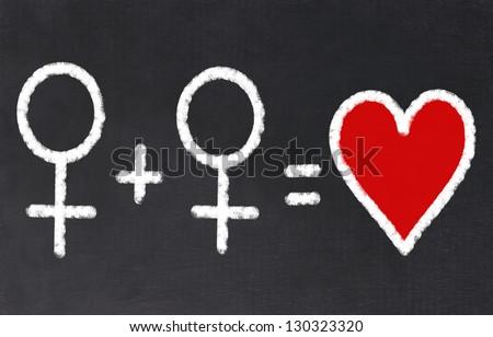 Lesbian Love - stock photo