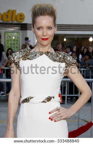 """Leslie Mann at the Los Angeles Premiere of """"The Change-Up"""" held at the Mann Village Theater in Los Angeles, California, United States on August 1, 2011.   - stock photo"""