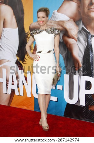Leslie Mann at the Los Angeles premiere of 'The Change-Up' held at the Regency Village Theatre in Westwood on August 1, 2011. - stock photo