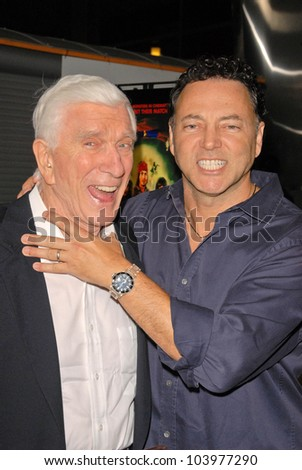 "Leslie Nielsen and Bo Zenga at the Los Angeles Premiere of ""Stan Helsing,"" Arclight Theater, Hollywood, CA. 10-20-09"