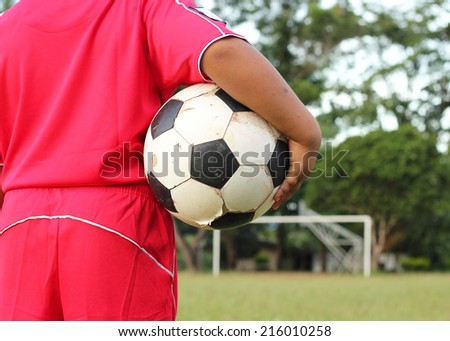 Let go to play soccer. - stock photo