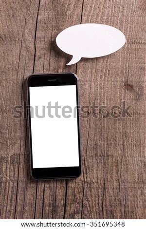 Let's chat - stock photo