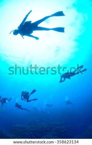let's diving - stock photo
