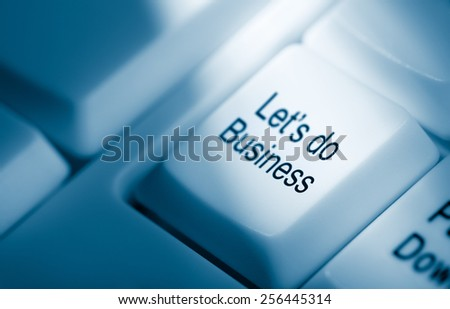 let's do business - stock photo