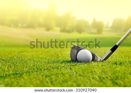 Let's golf - stock photo
