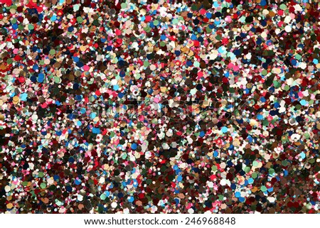 Let's party! High resolution macro view of glitter background - stock photo
