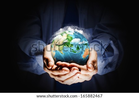 Let's save our planet earth. Ecology concept.