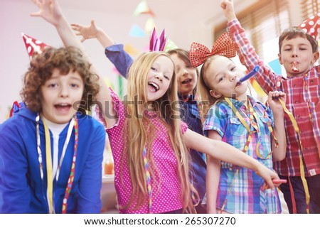 Let's start this birthday party - stock photo