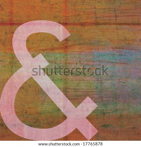 letter & alphabet symbol painted background